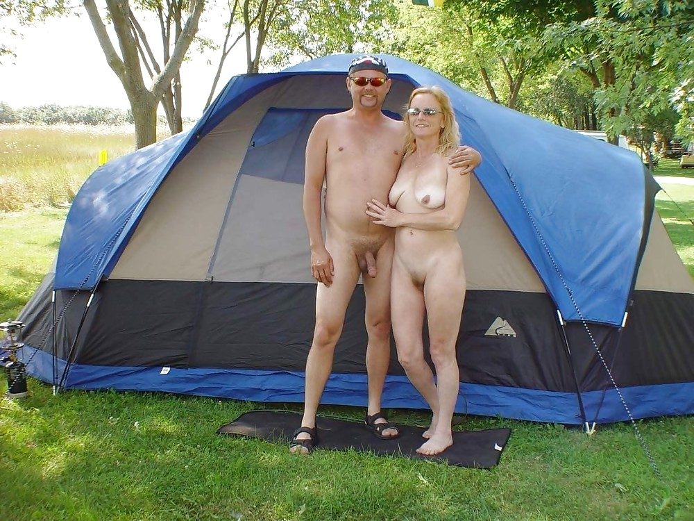 Mature nude couples camping