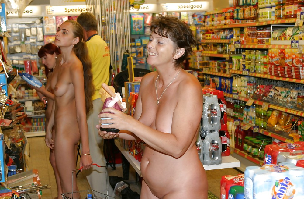 Please girls nude grocery shopping