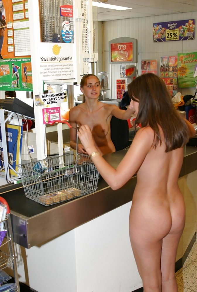 Shopping nude girls centers at