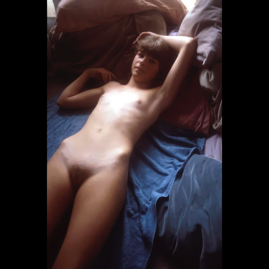 Old fashion with actually mature models and tiny boobs naked on soft bed