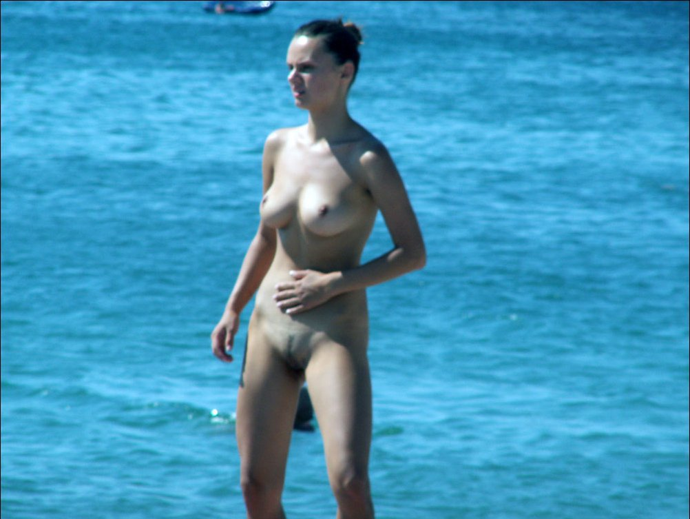 Skinny pale with splendid great hips and oversexed body spied by voyeur