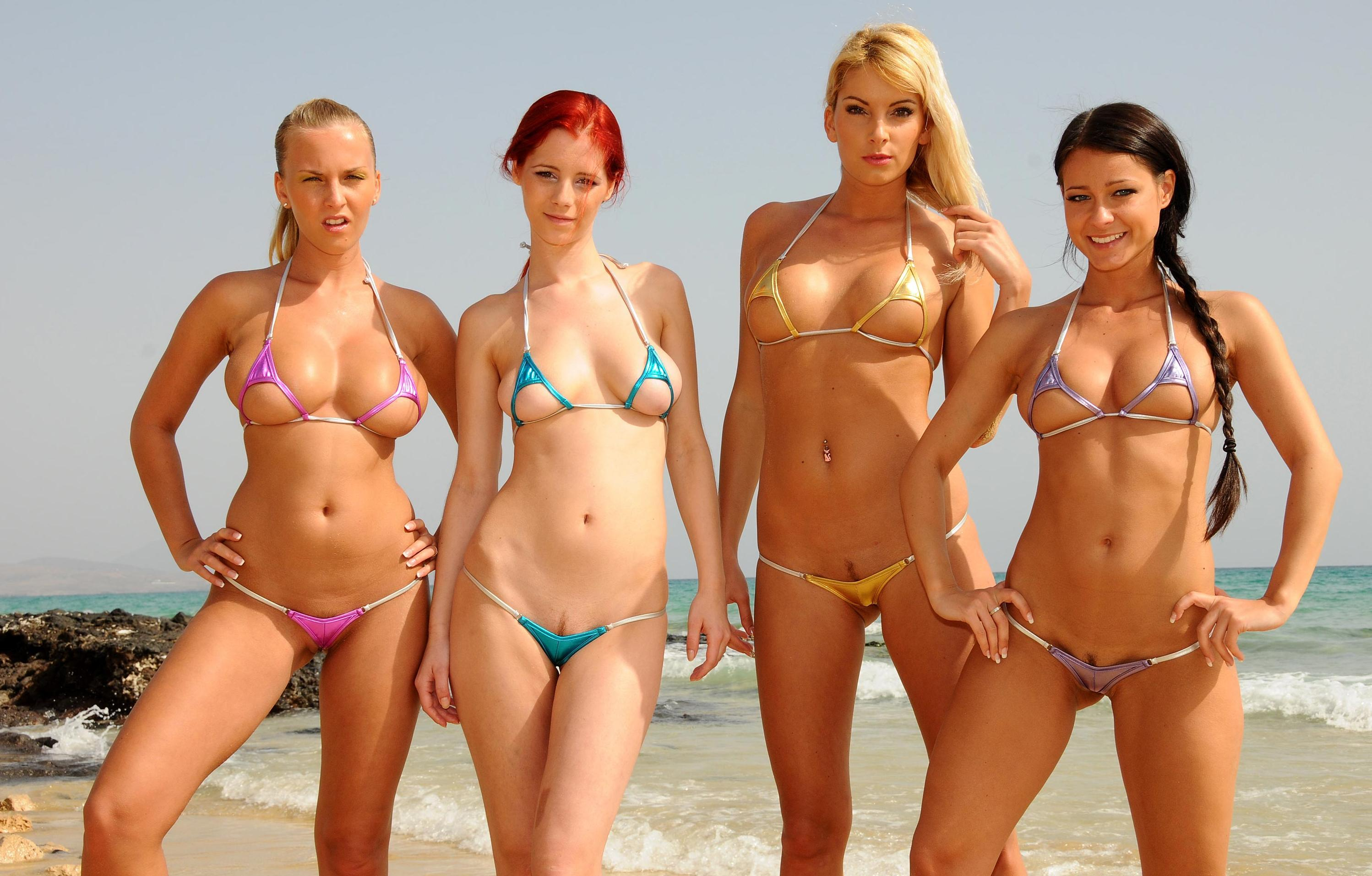 These girls probably have smallest bikinis on the world and they look fantastic