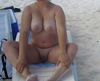 Nudist Mom at the Beach
